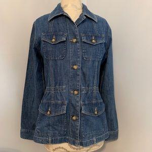 Denim Jacket by Eddie Bauer. Size medium